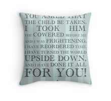 Labyrinth Jareth Movie Quote Throw Pillow