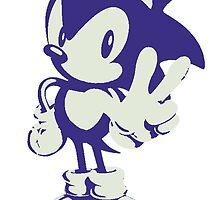 Minimalist Sonic by 4xUlt