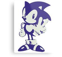 Minimalist Sonic Metal Print