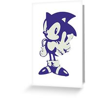 Minimalist Sonic Greeting Card