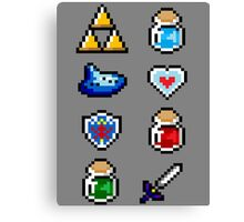 Zelda Items V.2 Canvas Print
