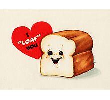 Bread Valentine Photographic Print