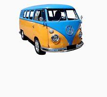 Volkswagen Kombi van in blue and orange. Unisex T-Shirt