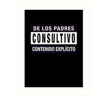 Mind your language - Spanish Art Print