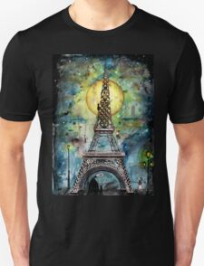 Paris... only light destroys darkness Unisex T-Shirt