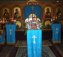Interior of  Orthodox Church Corvallis, Oregon by Sabrina Messenger