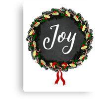 Joy Christmas Wreath Canvas Print