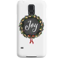 Joy Christmas Wreath Samsung Galaxy Case/Skin