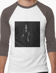 Smoking woman. Men's Baseball ¾ T-Shirt