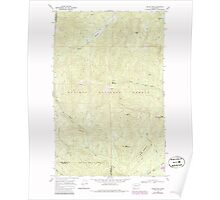 USGS Topo Map Washington State WA Boyer Mtn 240190 1968 24000 Poster
