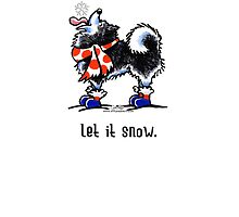 Alaskan Malamute Let it Snow Holiday Card by offleashart