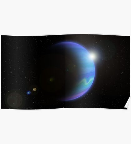 Distant Gas Giant. Poster