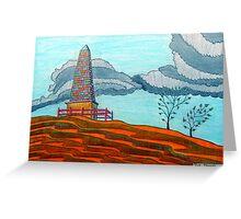 366 - THE OBELISK - DAVE EDWARDS - COLOURED PENCILS - 2012 Greeting Card