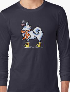 Samoyed / American Eskimo Dog Celebrate Winter Long Sleeve T-Shirt