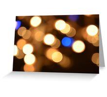 Falling Light Drops Greeting Card
