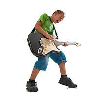 R'n'R kid with a guitar Photographic Print