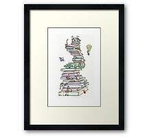 Book Tower Framed Print