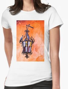 Wrought Iron Lamp Womens Fitted T-Shirt