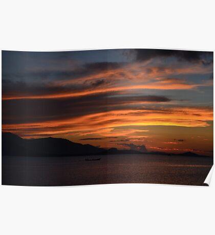 burning sky Poster