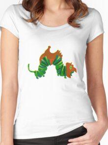 Hungry Battlecaterpillar Women's Fitted Scoop T-Shirt