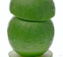 Green apple tower by Jenella
