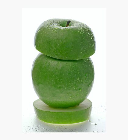 Green apple tower Photographic Print