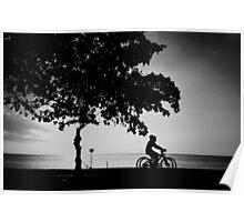 cycling monochrome Poster