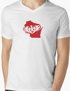 Wisconsin is MAD, Mad, MAD! Mens V-Neck T-Shirt