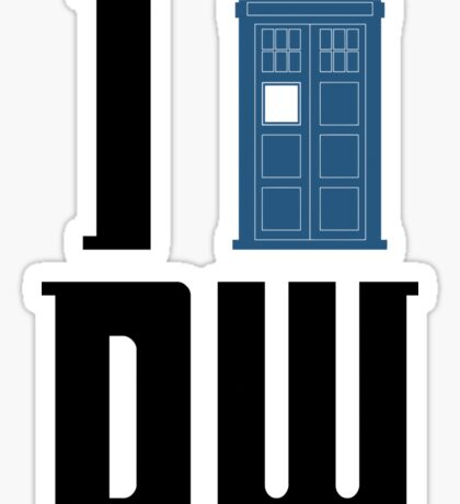 I Tardis Doctor Who Sticker
