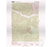 USGS Topo Map Washington State WA Goat Mountain 241325 1983 24000 Poster