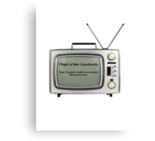 Flight of the Conchords - Television design Canvas Print