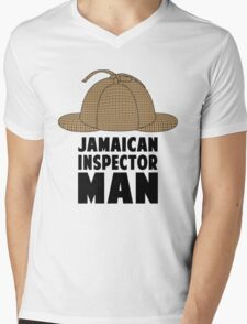 Jamaican Inspector Man Mens V-Neck T-Shirt