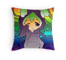 Gradient Rainbow Throw Pillow