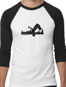 Parkour with text Men's Baseball ¾ T-Shirt