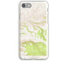 USGS Topo Map Washington State WA Cahill Mtn 240295 1976 24000 iPhone Case/Skin