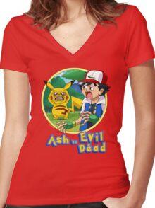 Ash Vs Evil Dead (not that Ash) Women's Fitted V-Neck T-Shirt