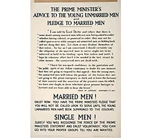 The prime ministers advice to the young unmarried men and pledge to married men 323 Photographic Print