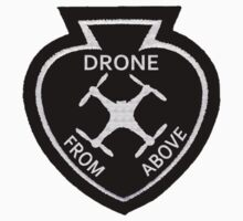 Drone From Above Vintage Style Patch Kids Clothes