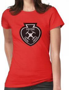 Drone From Above Vintage Style Patch Womens Fitted T-Shirt
