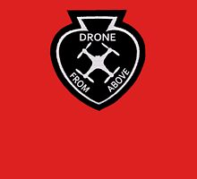 Drone From Above Vintage Style Patch Unisex T-Shirt