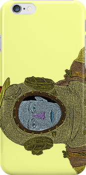 Buster Keaton SCUBA Culture Cloth Zinc Collection iPhone Case by CultureCloth