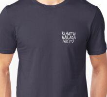 Klaatu Barada Nikto - Evil Dead (white)  Unisex T-Shirt