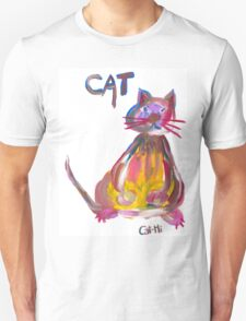 Colorful Cat - Sitting T-Shirt