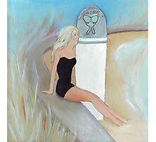 Surfing, summer, serotonin  Photographic Print