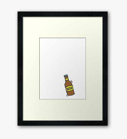 If at first you don't succeed, give up and get a beer Framed Print