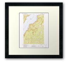 USGS Topo Map Washington State WA Holly 241556 1953 24000 Framed Print
