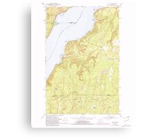 USGS Topo Map Washington State WA Holly 241556 1953 24000 Canvas Print