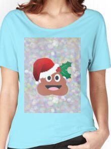 santa claus poop emoji Women's Relaxed Fit T-Shirt