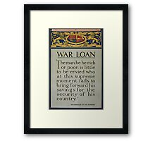 War loan 397 Framed Print