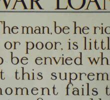 War loan 397 Sticker
